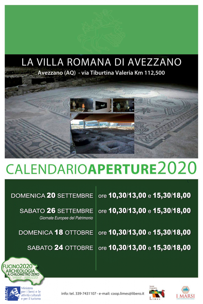 visite guidate villa romana di avezzano